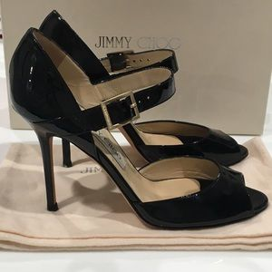 Jimmy Choo 'Lace' Patent Leather Heels